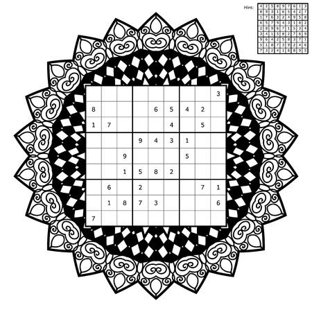 Anzahl Ort Mit Antwort Und Anti-Stress-Malbuch. Magisches Quadrat ...