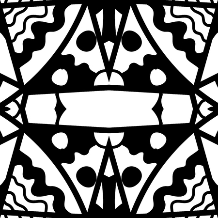 scrawl: Hand drawn seamless pattern in zendoodle style Illustration