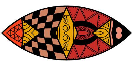 lunatic: Decorative element. Mandorla in crazy colors. Psychedelic design. Illustration