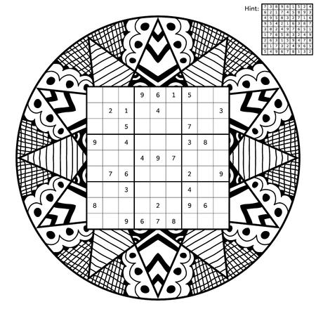 Sudoku Mit Lösung Und Anti-Stress-Malbuch. Magisches Quadrat. Anzahl ...