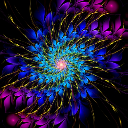 Abstract crazy psychedelic background as nice wallpaper