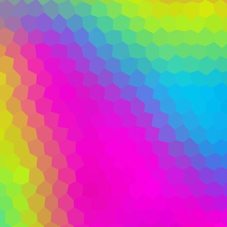 Crazy abstract hexagonal shapes create insane wallpaper Stock Photo