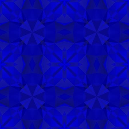 bluish: Crazy psychedelic motif as polygonal seamless pattern