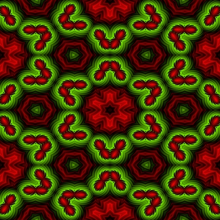 reddish: Crazy psychedelic motif as colorful seamless pattern