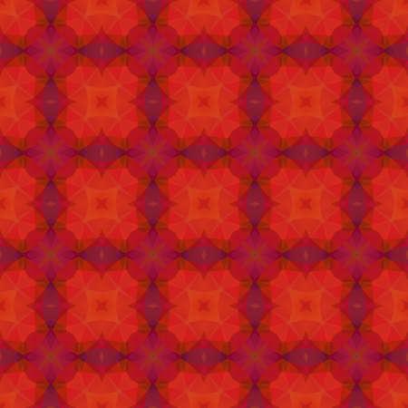 reddish: Crazy psychedelic motif as polygonal seamless pattern