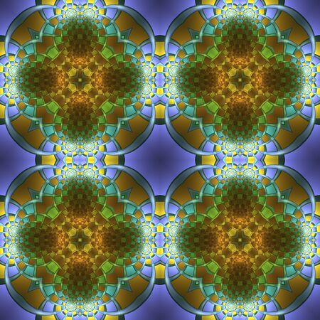 Crazy psychedelic motif as beautiful seamless pattern
