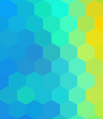 Crazy abstract hexagonal shapes create insane wallpaper Illustration