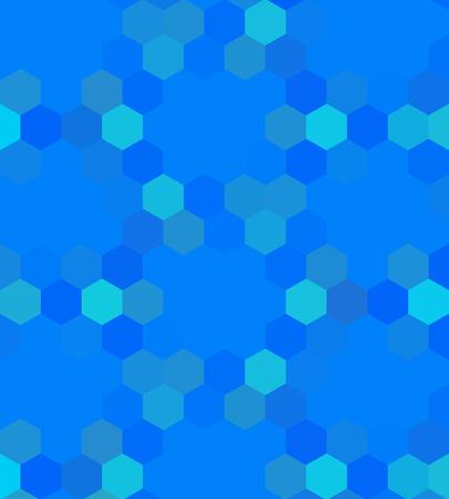 bluish: Crazy abstract hexagonal shapes create insane wallpaper Illustration
