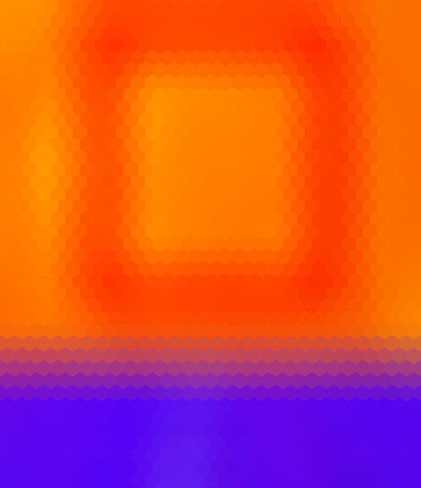 reddish: Crazy abstract hexagonal shapes create insane wallpaper Illustration
