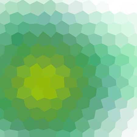 greenish: Crazy abstract hexagonal shapes create insane wallpaper Illustration