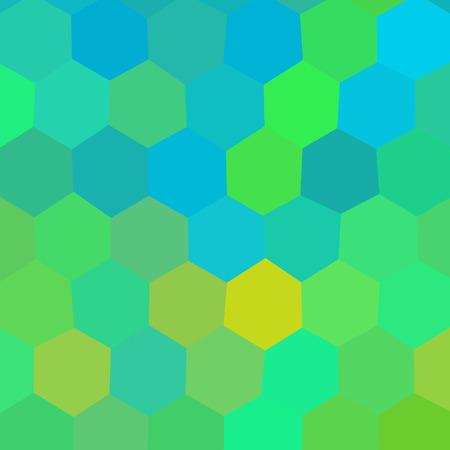 insane: Crazy abstract hexagonal shapes create insane wallpaper Illustration