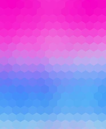 Crazy abstract hexagonal shapes create insane wallpaper Illustration