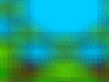 Crazy abstract shapes as insane horizontal wallpaper