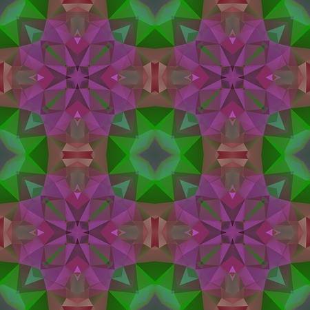 Crazy psychedelic motif as polygonal seamless pattern
