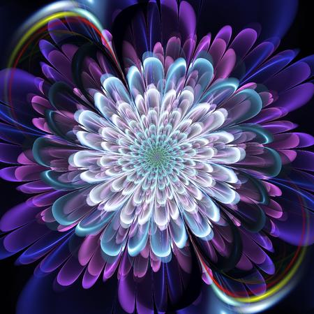 Fractal flower. Abstract fractal in floral style. Fractal art.