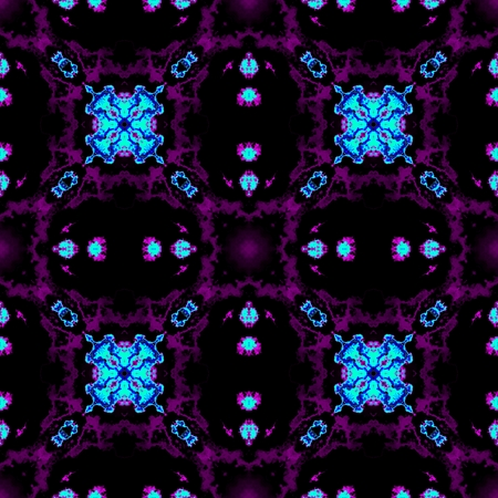 Crazy psychedelic motif as colorful seamless pattern
