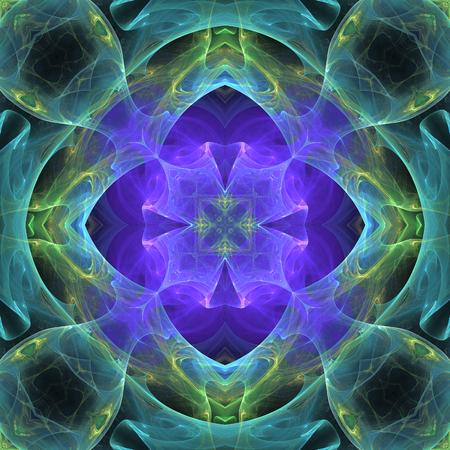 phantasy: Dark blue fractal shape on black background