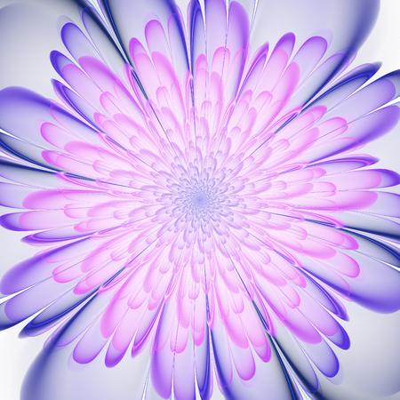 Abstract fractal. Crazy fractal shapes on white background. Fractal flower. Fractal art. Stock Photo