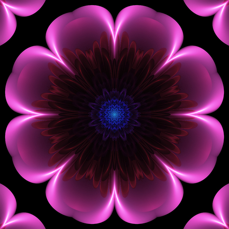 Abstract crazy fractal composition with floral theme Stock Photo