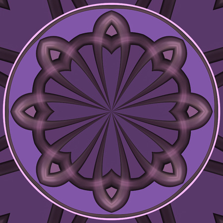 lsd: Abstract crazy fractal composition with mandala theme Stock Photo