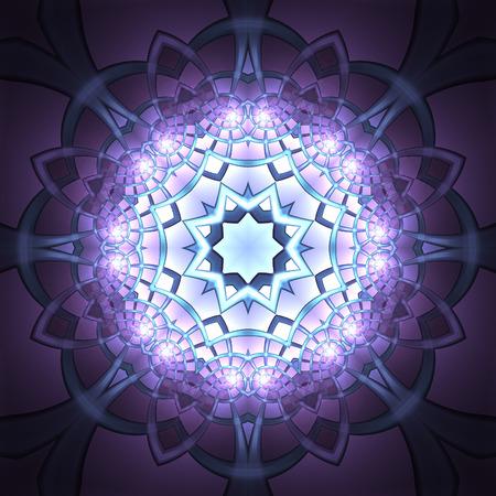 overhead: Overhead view of beautiful purple symmetrical art of tessellated shapes Stock Photo