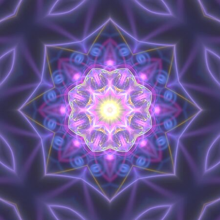 Crazy abstract kaleidoscopical shapes with mauve tint Stock Photo