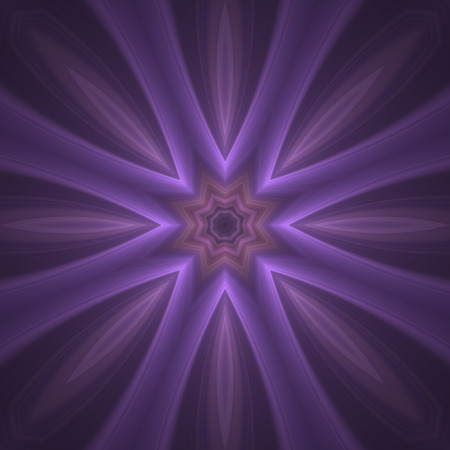 Crazy mauve kaleidoscopic a little bit blurry shapes with glow effect