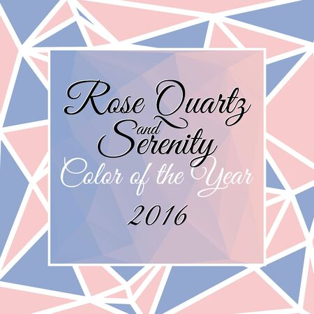 Blend of rose quartz and serenity in triangular style, Colors of the year 2016 Illustration