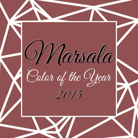 Color of the year 2015 with name Marsala