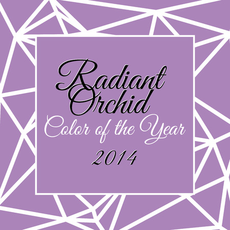 Color of the year 2014 with name Radiant orchid