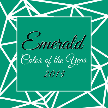 Color of the year 2013 with name Emerald Illustration