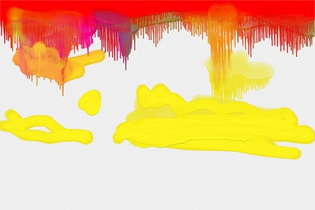 Abstract colorful painting at white canvas for painting Stock Photo