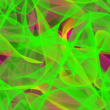 Pink, yellow and green seamless pattern made by chaotic streaks