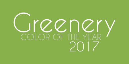 Color of the year 2017 with name Greenery
