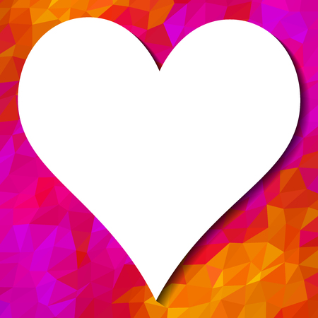 Colorful background and heart with white place for your text