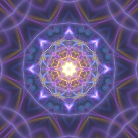 Nice psychedelic kaleidoscopic shapes with mandala theme as graphic element
