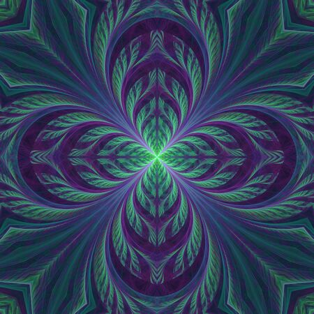 Nice abstract flourish fractal with crazy petals