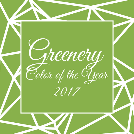 Color of the year 2017 greenery in triangular style Illustration