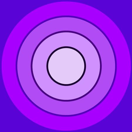 多くのバイオレットの同心円によって作られたバック グラウンド