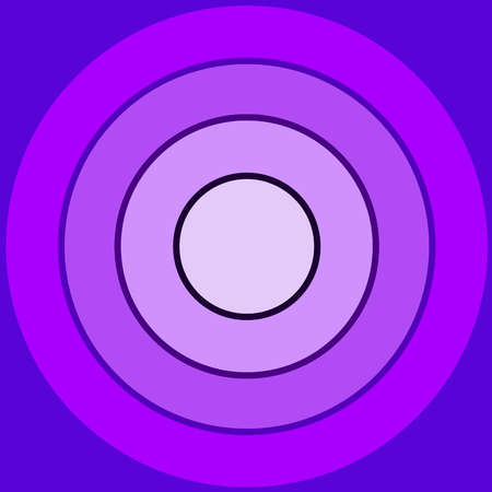 Backgound made by many violet concentric circles Illustration