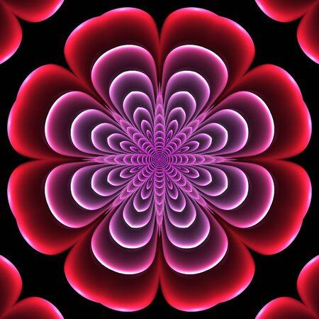Crazy symmetric abstract flourish element with dark background