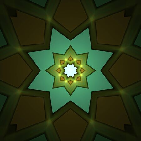 Crazy symmetric abstract element with dark background Stock Photo