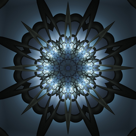 Crazy symmetric abstract element with dark background Reklamní fotografie