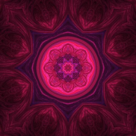 暗い背景を持つクレイジー対称抽象要素
