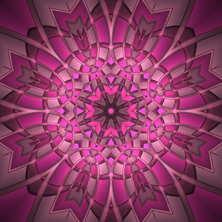 Abstract pinkish graphic element on black background