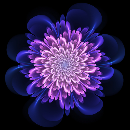 Fractal flower. Abstract fractal art in floral style. Mauve fractal flower. Fractal art.