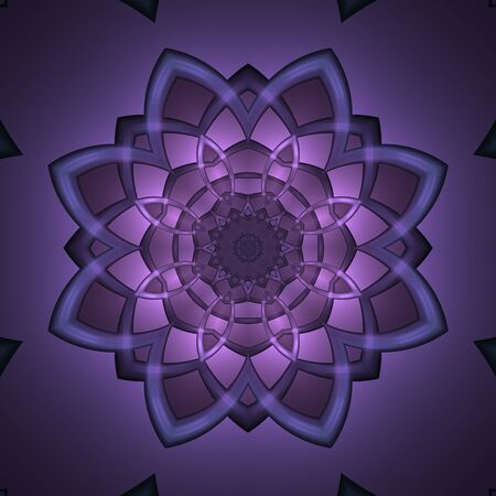 Crazy symmetric abstract floral element with dark background