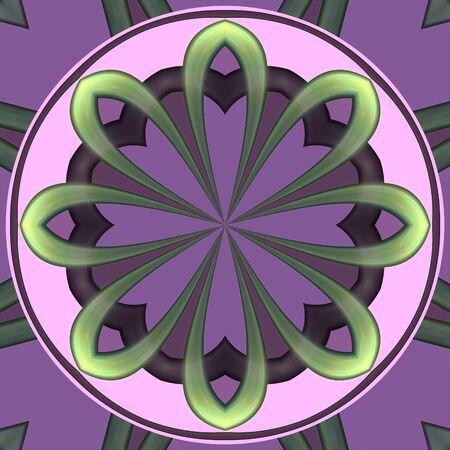 薄いピンク色の抽象的なマンダラのコンセプト