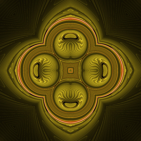 Abstract dark fractal design in fractal art style Stock Photo