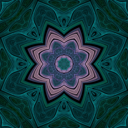 Abstract crazy symmetrical design in fractal art style Stock Photo
